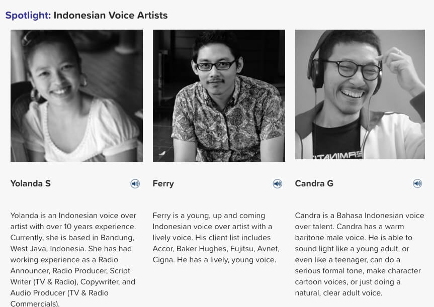 Indonesian voice artists