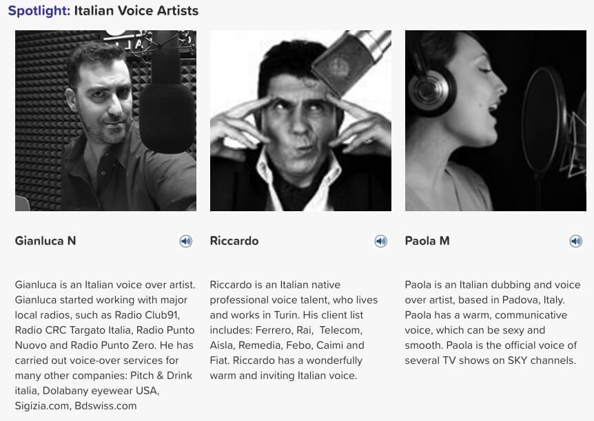 Italian voice artists