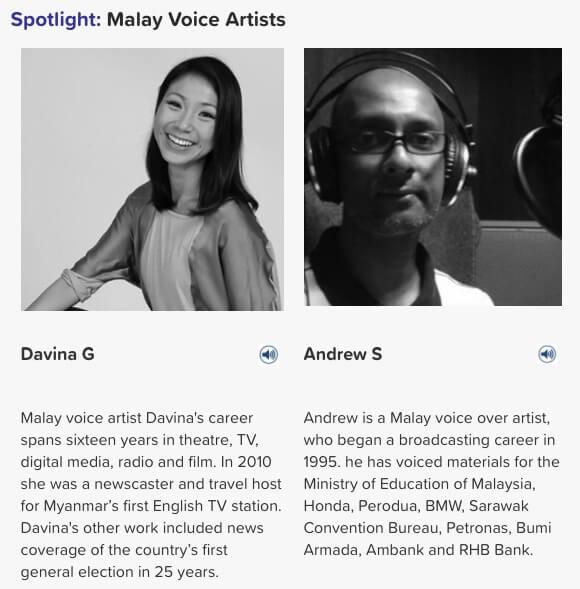 Malay voice artists