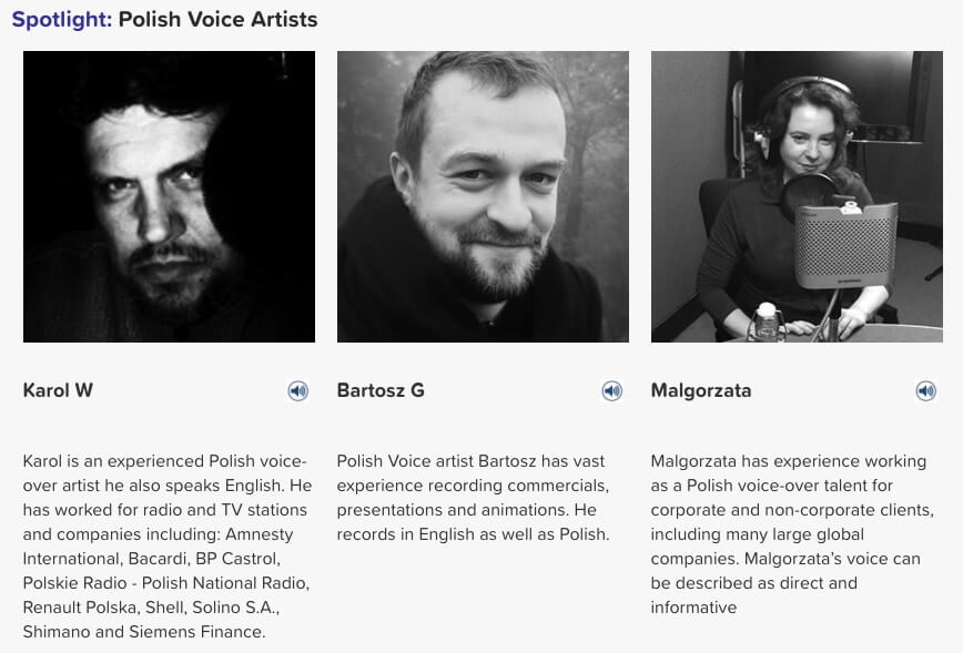 Polish voice artists