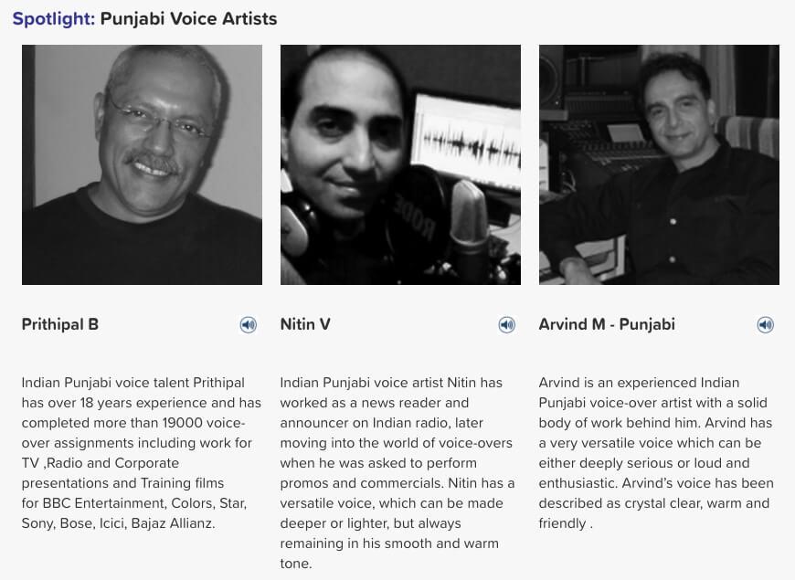 Punjabi voice artists