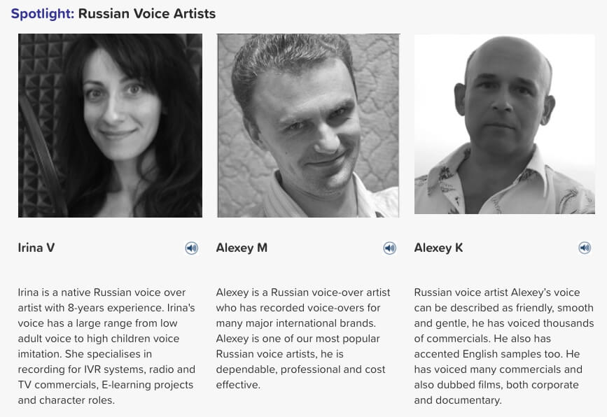 Russian voice artists