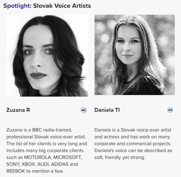 Slovak voice artists