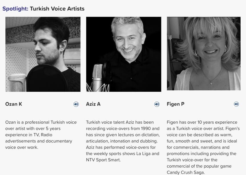 Turkish Voice artists