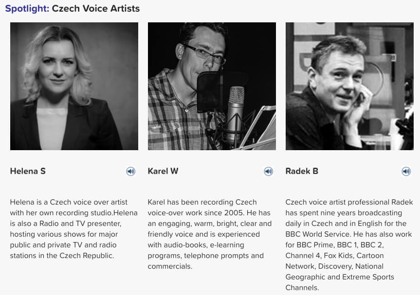 czech voice artists