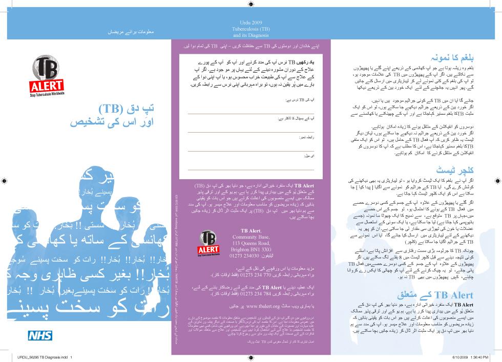 TB Alert Urdu Translation and typesetting Sample